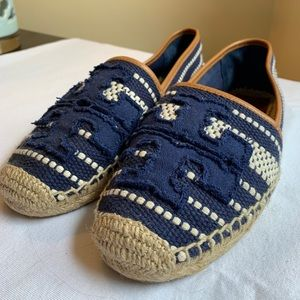 Tory Burch Espadrilles. Size 10. Worn once.